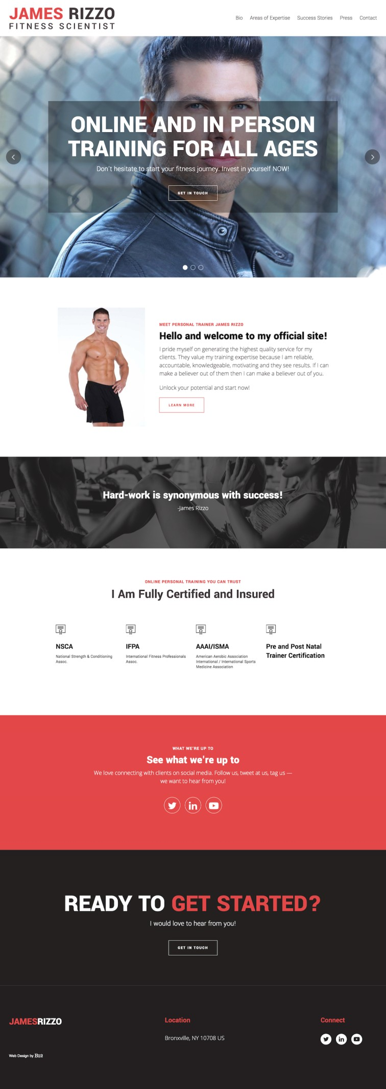 Personal Training by James Rizzo