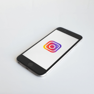 Instagram icon shown on an iPhone.