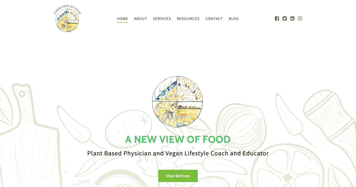 Visit A New View of Food online at anewviewoffood.com